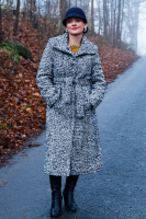 kabát modrý