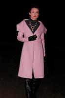 kabát růžový PD